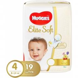 Подгузники Huggies Elite Soft (4) 8-14 кг 19 шт