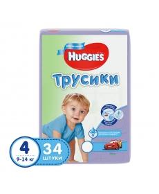 Huggies Подгузники-трусики для мальчиков (4) 9-14 кг - 34 шт