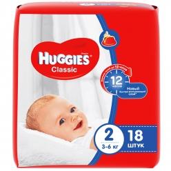 Huggies Classic Подгузники (2) 3- 6кг - 18 шт
