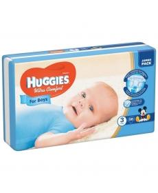 Huggies Ultra Comfort Подгузники для мальчиков (3) 5-9 кг - 56 шт