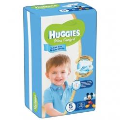 Huggies Ultra Comfort Подгузники для мальчиков (5) 12-22 кг - 15 шт