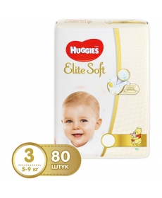Подгузники Huggies Elite Soft (3) 5-9 кг 80 шт