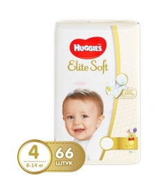 Подгузники Huggies Elite Soft (4) 8-14 кг 66 шт