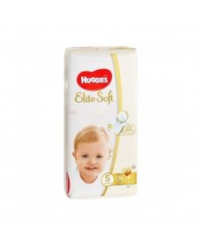 Подгузники Huggies Elite Soft (5) 12-22 кг 56 шт