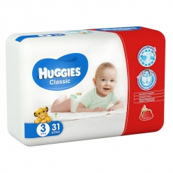 HUGGIES Classic 3 4-9кг 31шт