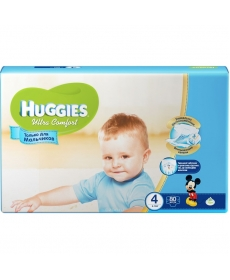 Huggies Ultra Comfort для мальчиков 4 8-14кг 80шт