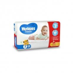 HUGGIES Classic 3 4-9кг 58шт