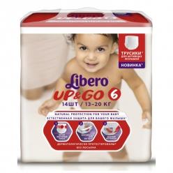 Libero Up&Go (6) 13-20кг 14шт