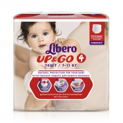 Libero Up&Go 7-11кг 74шт