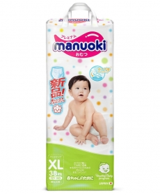 Подгузники-трусики MANUOKI XL 12+кг 38шт