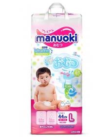 Подгузники MANUOKI Ultrathin L 12+кг 44шт
