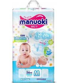 Подгузники MANUOKI Ultrathin M 6-11кг 56шт
