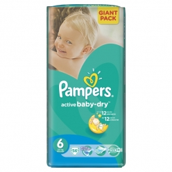 Pampers Active Baby-Dry Extra Large (+15кг) 56шт