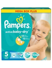 Pampers Active Baby-Dry Junior (11-18кг) 126шт.
