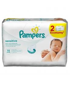 Pampers Влажные салфетки Sensitive 2х56шт
