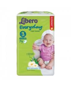 Libero Everyday Midi (3) 4-9кг 74шт