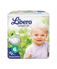 Libero Comfort Fit EcoTech Extra Large (6) 12-22кг 32шт