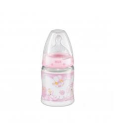 NUK Бутылочка BABY ROSE (First Choice) пластм.150мл+соска сил 0-6м 10743283