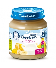 Gerber пюре 125г Банан/Сливки