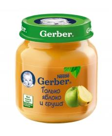 Gerber пюре 130г Яблоко/Груша