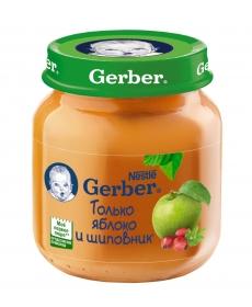 Gerber пюре 130г Яблоко/Шиповник