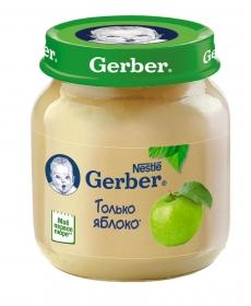 Gerber пюре 130г Яблоко