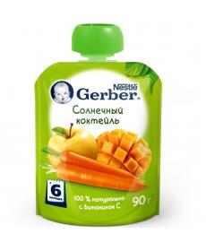 Gerber пюре 90г Солнечный коктейль