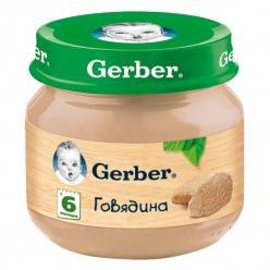 Gerber пюре 80г Говядина