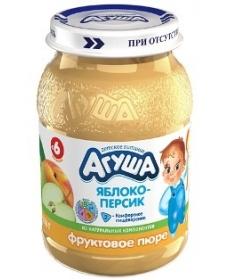 Агуша Пюре Яблоко/Персик 200г