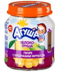 Агуша Пюре Яблоко с кусочками 105г