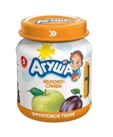 Агуша Пюре Яблоко/Слива 115г