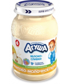 Агуша Пюре Яблоко/Сливки 200г