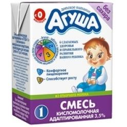 Агуша Смесь 0,2л Детская Кисломолочная 1