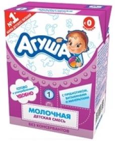 """Смесь стерилизованная молочная детская с пребиотиками """"Агуша-1"""""""
