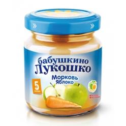 Бабушкино Лукошко пюре 100г Морковь/Яблоко