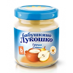 Бабушкино Лукошко пюре Груша/Сливки (Сахар) 100г
