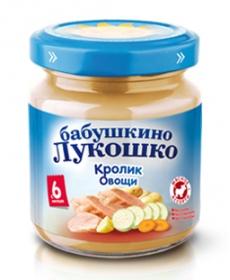 Бабушкино Лукошко пюре 100г Рагу овощное/Кролик