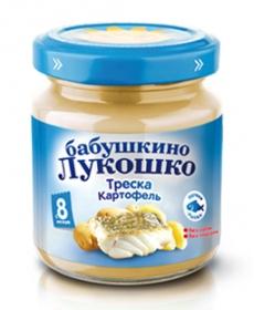Бабушкино Лукошко пюре 100г Треска/Картофель