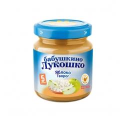 Бабушкино Лукошко пюре 100г Творог/Яблоко