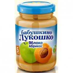 Бабушкино Лукошко пюре 200г Яблоко/Абрикос