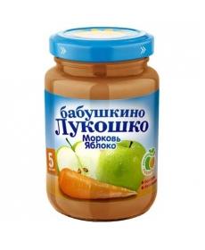 Бабушкино Лукошко пюре Яблоко/Морковь 200г