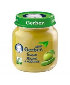Gerber пюре 130г Яблоко/Кабачок