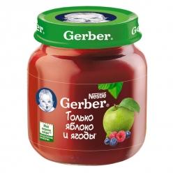 Gerber пюре 130г Яблоко/Черника