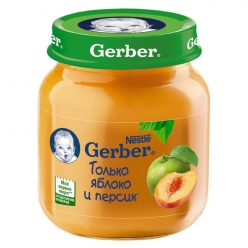 Gerber пюре 130г Яблоко/Персик