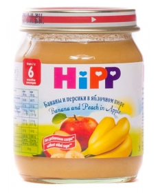 HIPP Пюре 125г Банан/Персик/Яблоко