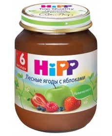 HIPP Пюре 125г Лесные ягоды/Яблоко
