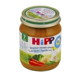 HIPP Пюре 125г Нежные овощи/Рис