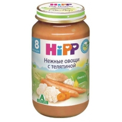 HIPP Пюре 125г Овощное рагу с Телятиной