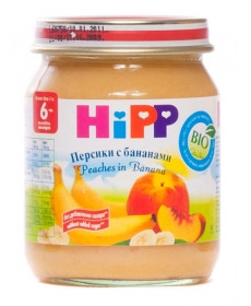 HIPP Пюре 125г Персик/Банан