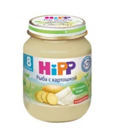 HIPP Пюре 125г Рыба/Картофель